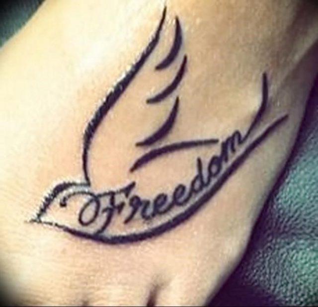 Фото Тату со значением свободы от 18