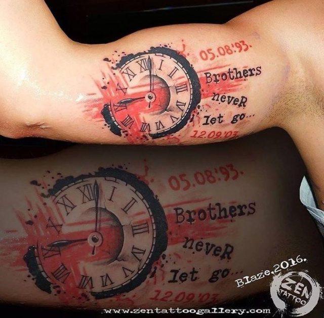 0abe92f1d470e2e131a8981c2dfba6eb  brother tattoos trash polka tattoo