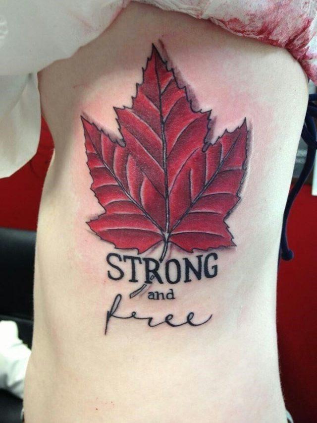 0d62b872cc4d4250edf38e397ff083b9  canadian tattoo maple leaf tattoo canadian