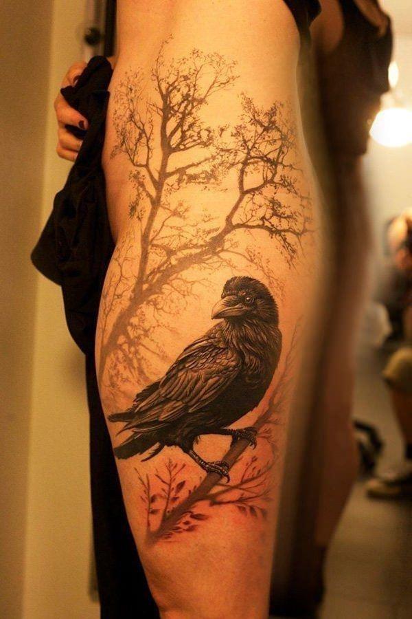 1 raven tattoos