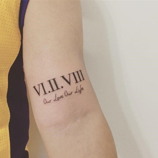 10 One of the Best Roman Numeral Tattoo on Inner Forearm
