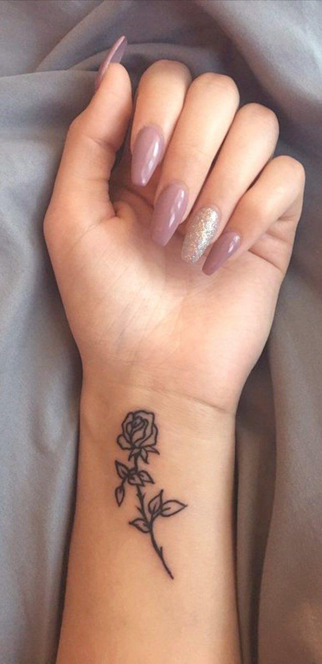 10 Wrist Rose Tattoo
