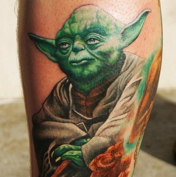 10 star wars yoda tattoo