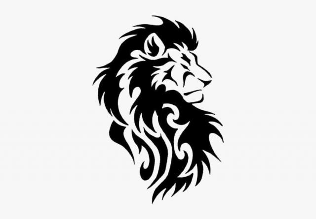 116 1162829 black lion tattoos png transparent background tribal lion