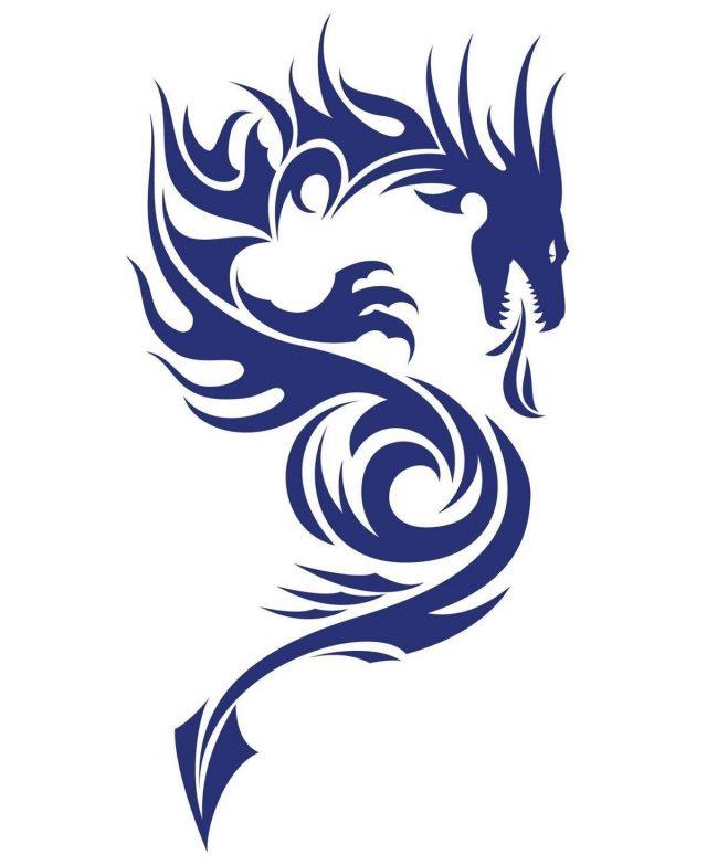 1200 137037477 dragon blue tattoo design