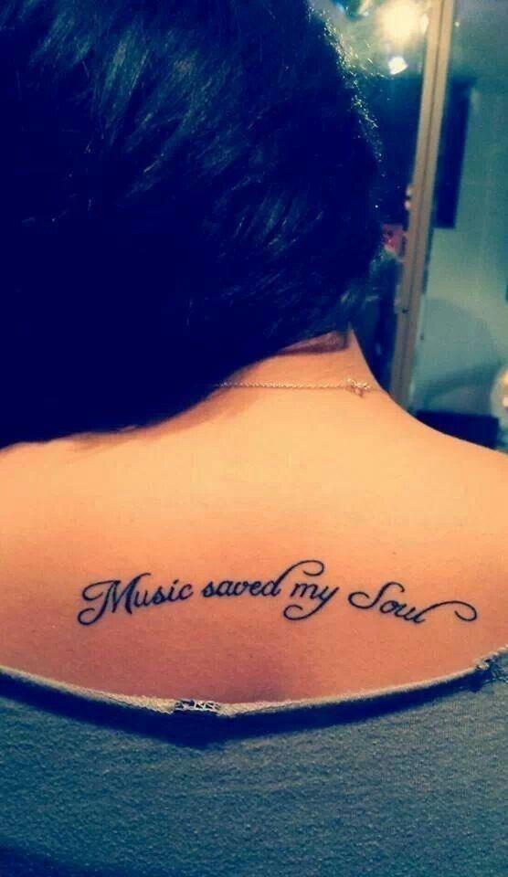 14 text music tattoo