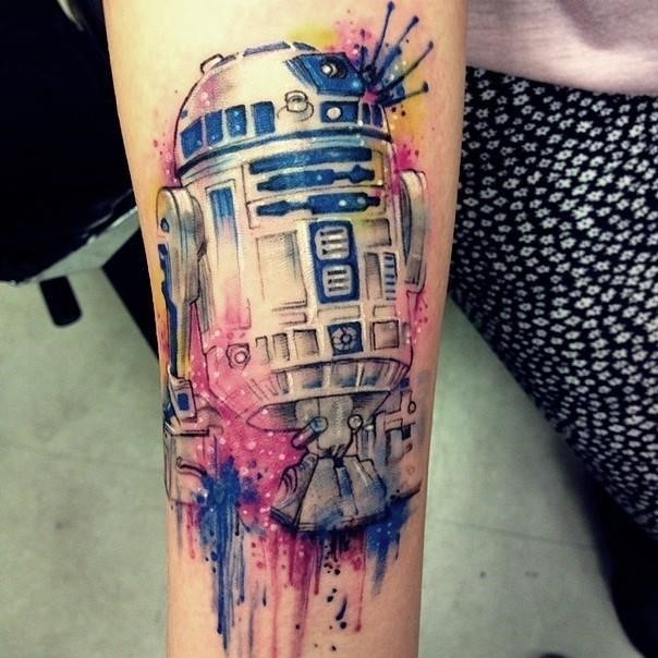 15 star wars tattoo r2d2