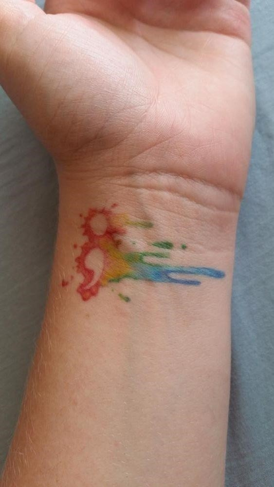 15 watercolor tattoos for females 9
