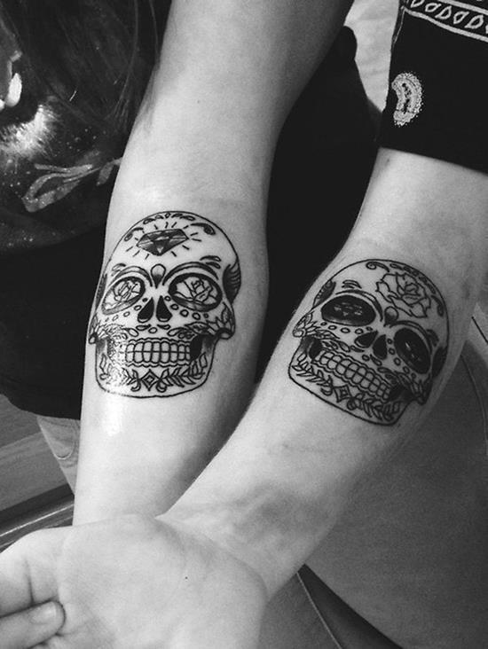 16 skull matching tattoos