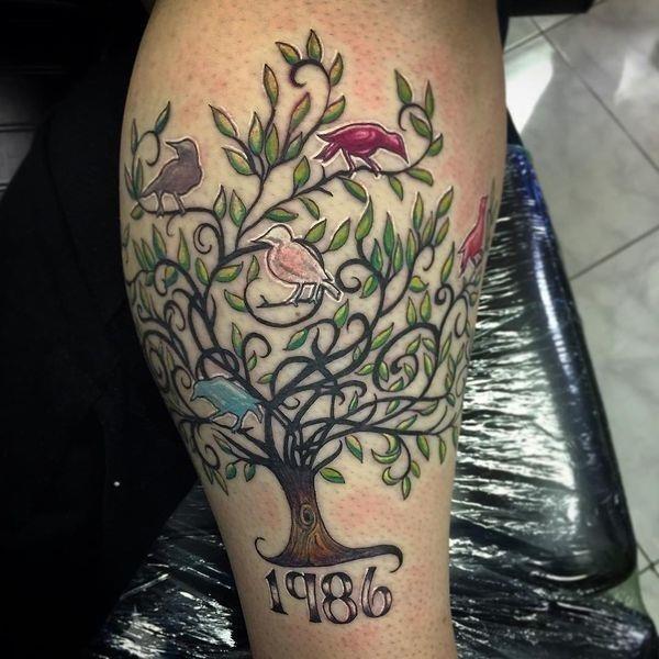 18 family tree tattoo