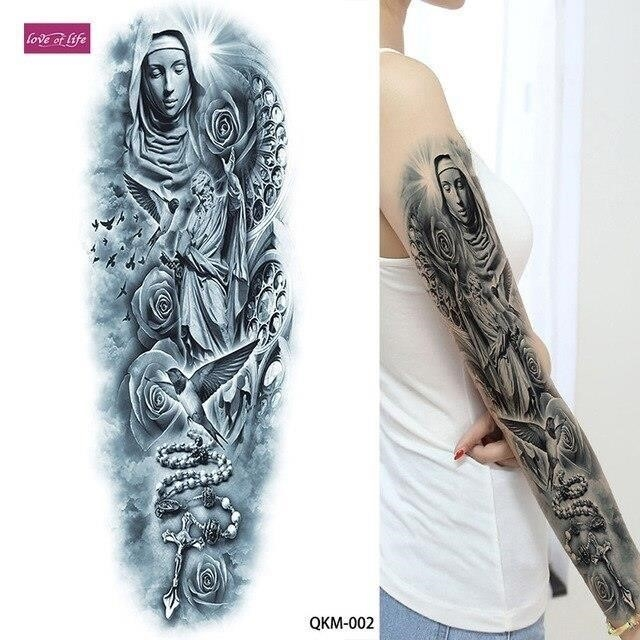 1pcs Big Large Hera Ancient Greek Mythology Temporary Tattoos Full Arm Leg Waist Art Tattoo Beauty