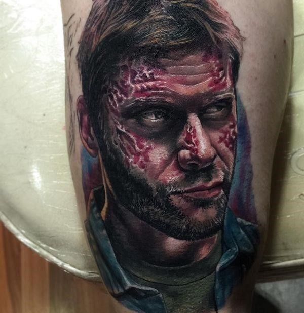 """20 Lucifer's portrait tattoo from """"Supernatural"""""""