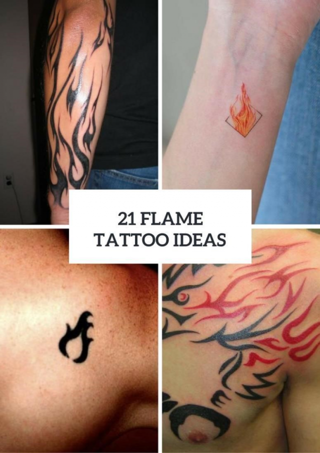 21 Flame Tattoo Ideas For Men 775×1096
