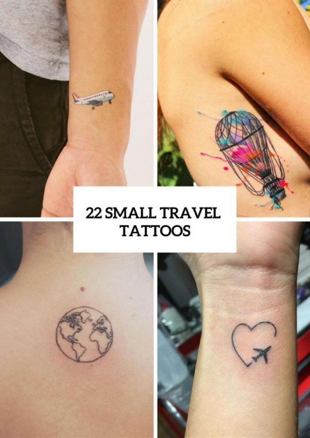 22 Small Travel Inspired Tattoos For Women 775×1096