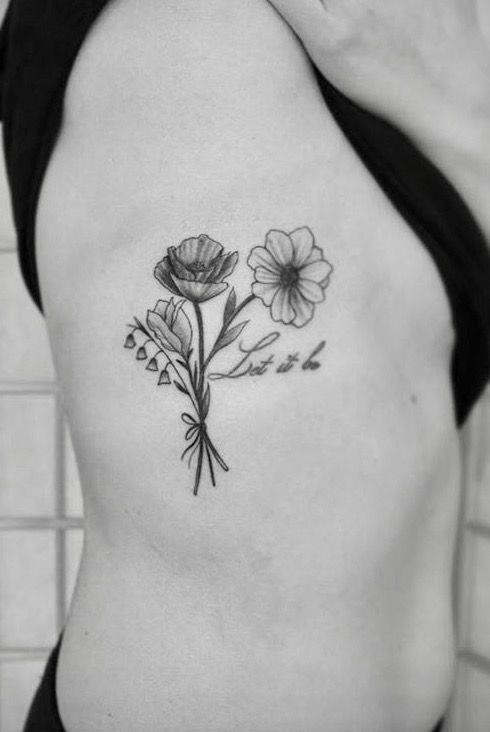 2246d08ac9f086c42a6b8998fe2f27bc  black and white flower tattoos white flowers