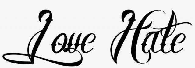 231 2315977 love hate tattoo love hate tattoo tattoo