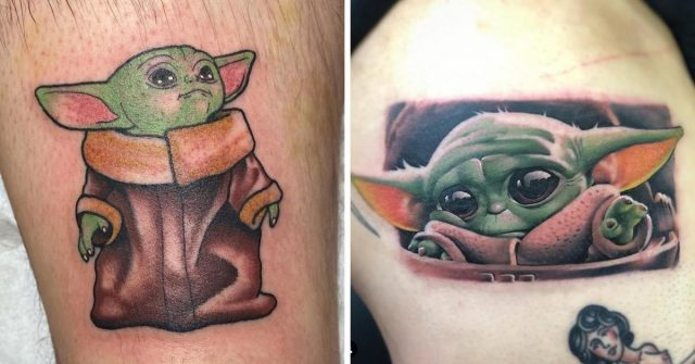 25 baby yoda tattoos that prove mandalorian fans are losing their damn minds
