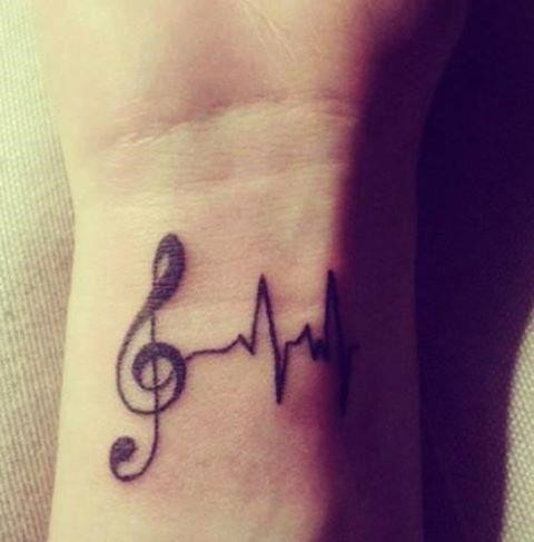 3 lifeline music tattoo