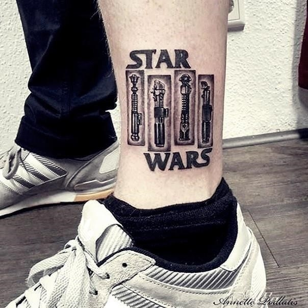 3 star wars lightsaber tattoo