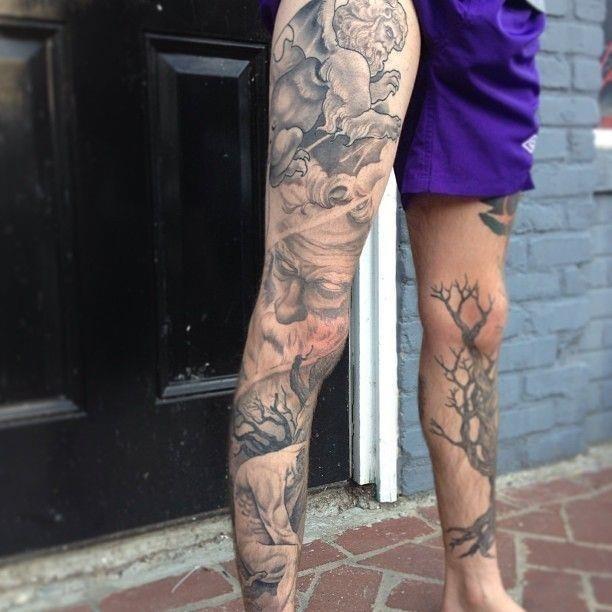 3401385eeba5ad6e45be1c54561c16f6  full leg tattoos legs