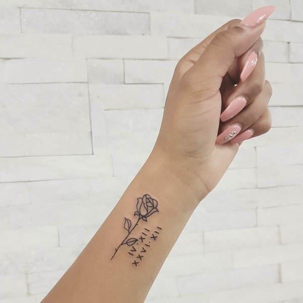 35050418 roman numeral tattoo