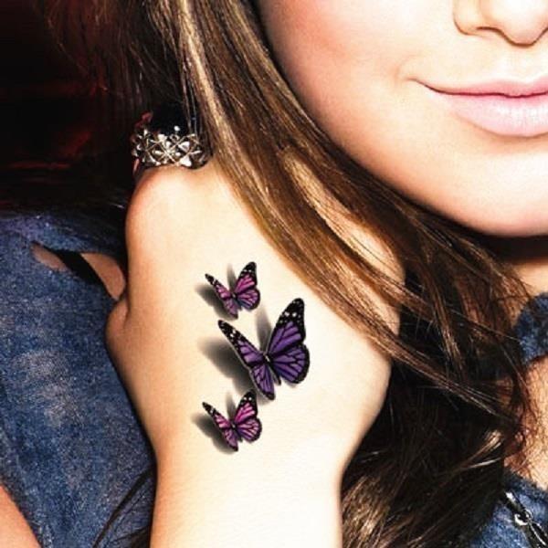 3D butterfly tattoo 14