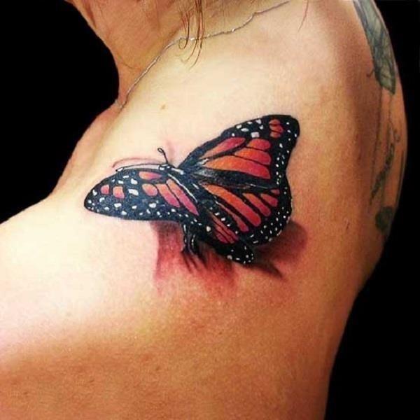 3D butterfly tattoo 27