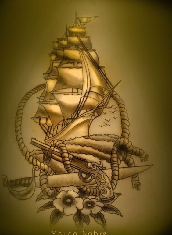 3a24f7d4f8c5867ed56e61f1ea1b2e72  boat tattoos ocean tattoos