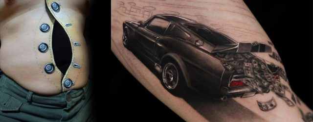 3d tattoos car