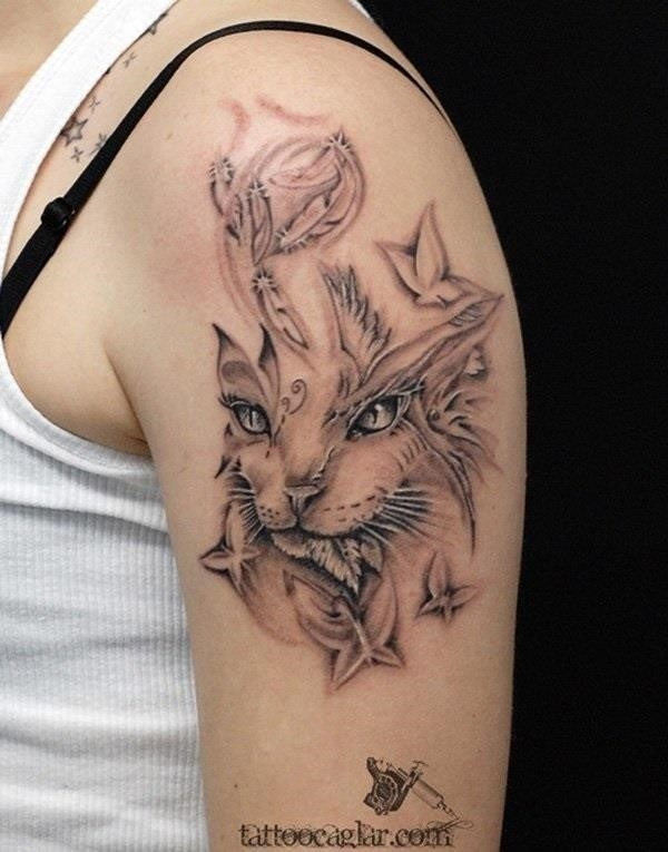 40 Excellent Cat Tattoo Designs and Inspirations9
