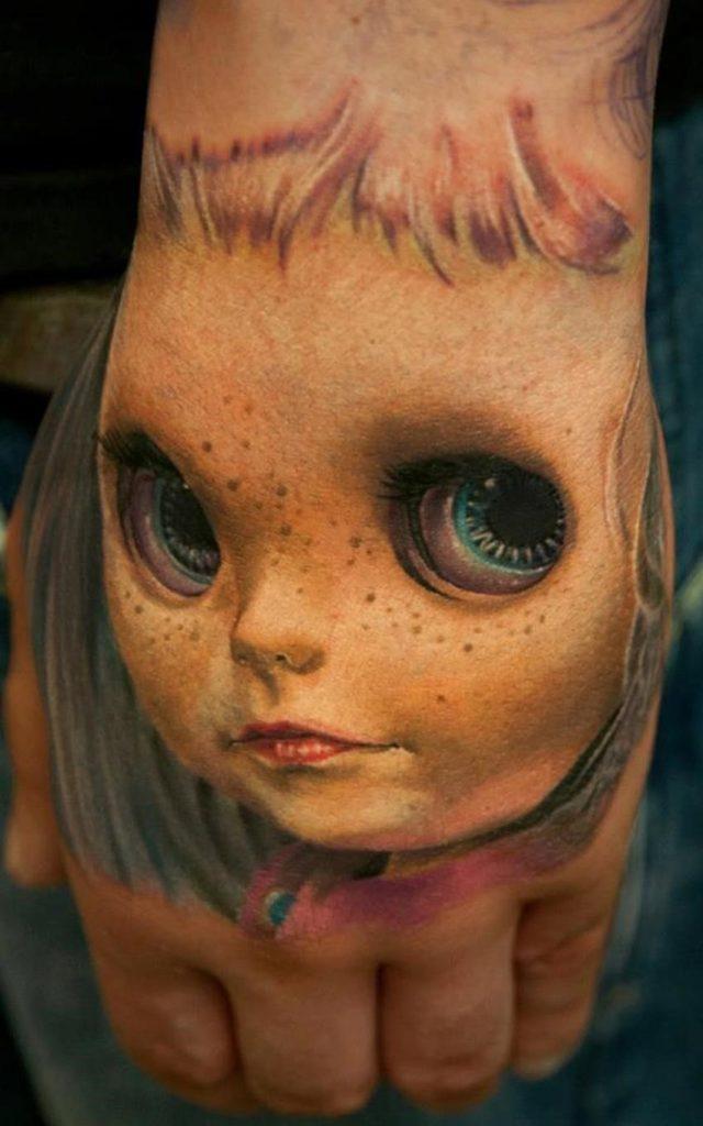 437 3d face tattoo