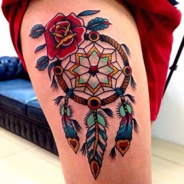 48 dreamcatcher tattoo designs