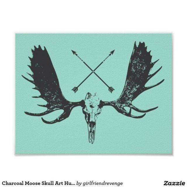 4eff92e73ee3ac08cf18462c9de5253c  moose skull moose tattoo