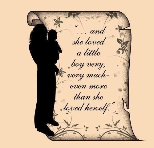 500 mother son tattoo design with quote by shel silverstein