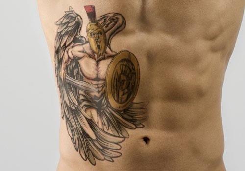550 spartan angel warrior tattoo
