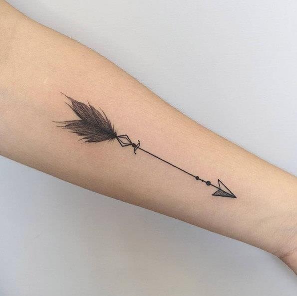 565 arrow tattoo