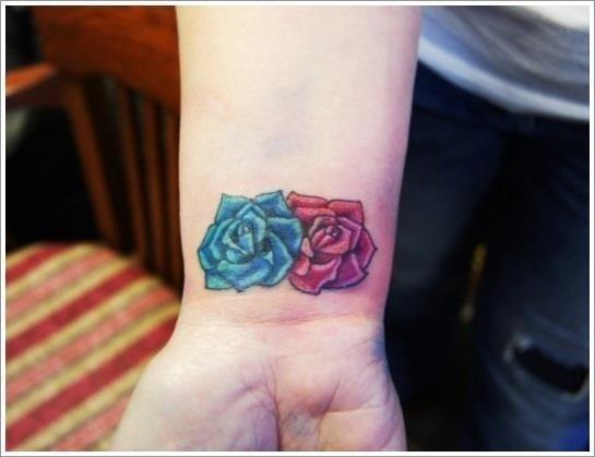 56 Wrist Roses tattoo for girls