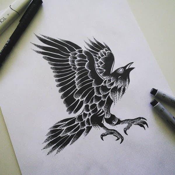 57091117raven tattoos