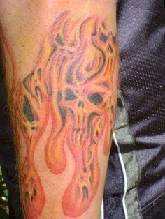 5b43a5f0758f91631e2e604cab3e2a3e  flame tattoos skull tattoos