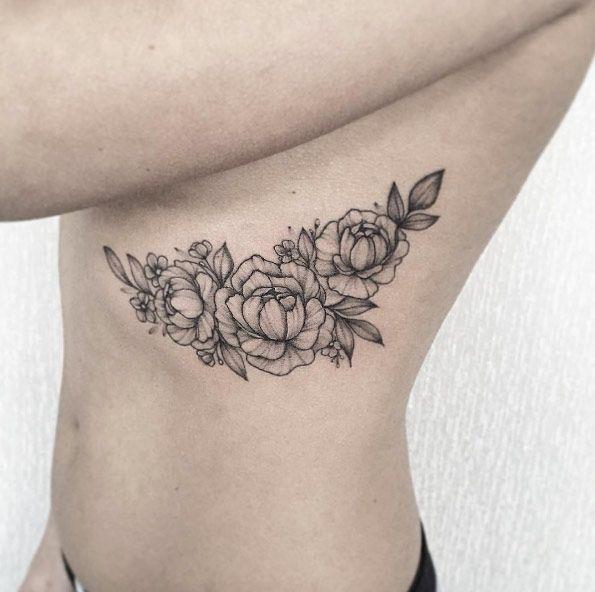 5d2bc1206fb1bef4087c4c7f28228109  white tattoos floral tattoos