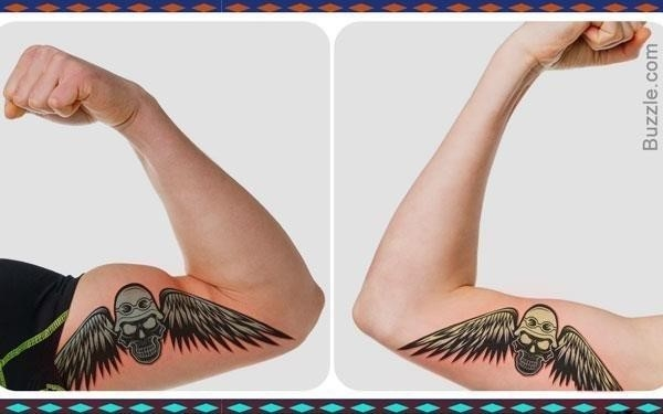 600 father daughter matching skull tattoos