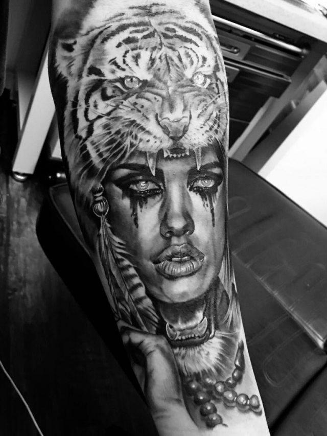 7 Tribal Warrior Tattoo