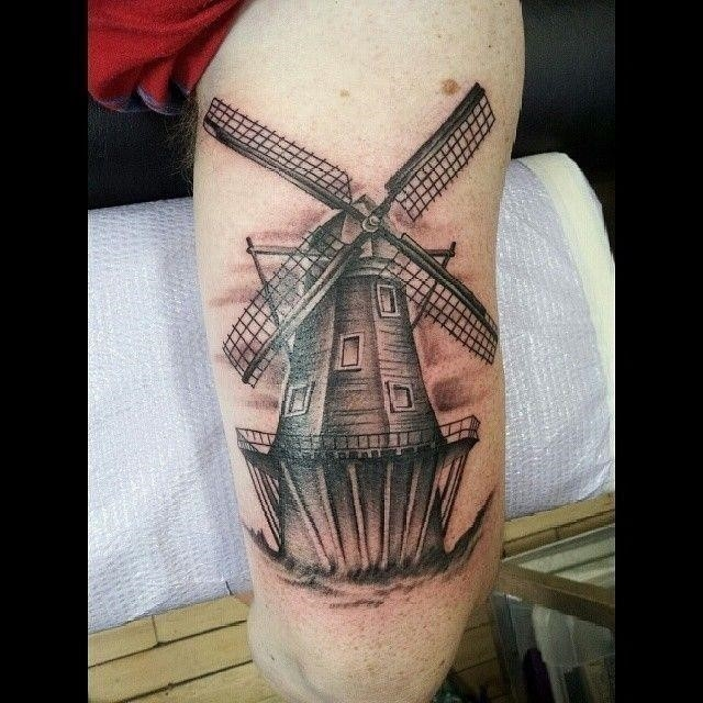 777f5e45e2353b511f659e203913d213  windmill tattoo dutch tattoo
