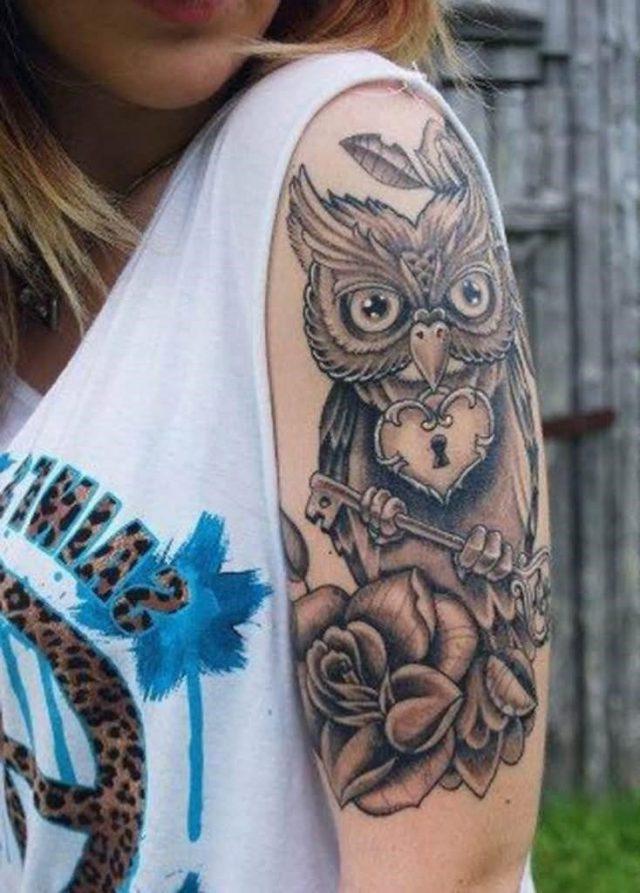 8019475eda3760889ddf699ddb142110  feminine owl tattoo feminine sleeve tattoos