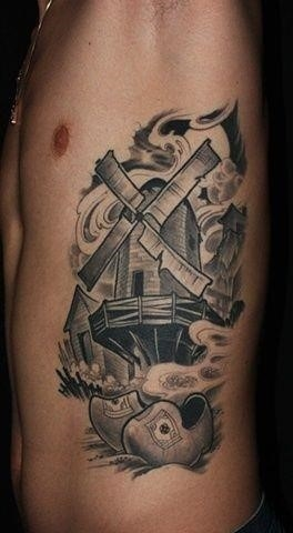 87f95bb2675f8fcbc1817ac95a81c0c6  windmill tattoos dutch windmill tattoo