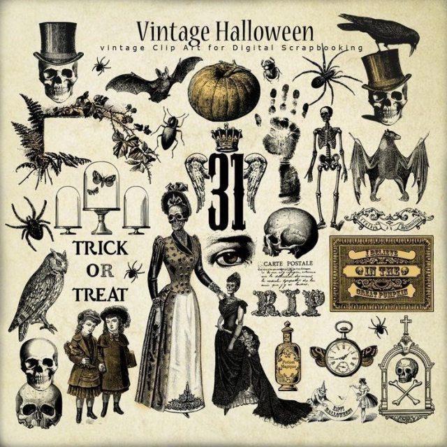 8ec18dabb27eda283676d48dfd5ca9b5  halloween labels retro halloween