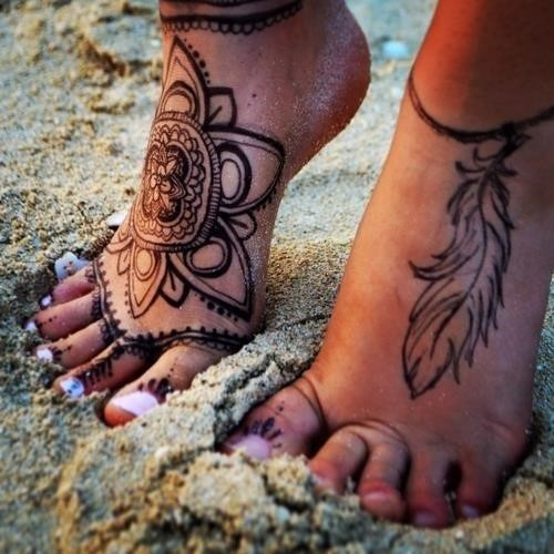 92988 Henna Ankle Tattoo