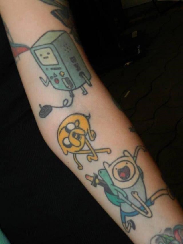 9309f430bd24a19441f16a719ac3c05a  adventure time tattoo time tattoos