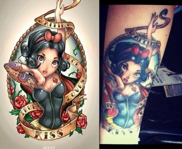9dde763411e32028fc2352845fffc07e  snow white tattoos anime art