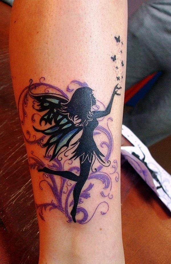 Adorable Fairy Tattoo Designs 28